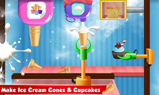 Ice Cream Cone Cupcake Factory: Candy Maker Games 1.0 screenshots 3