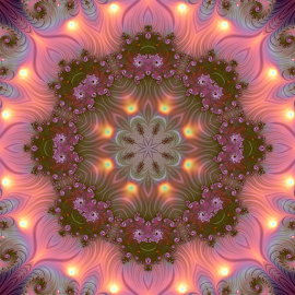 Fractal kaleidoscope, mandala 10 by Cassy 67 - Illustration Abstract & Patterns ( digital, love, harmony, surreal, abstract art, mandala, surrealism, abstract, jux, fractals, digital art, kaleider, modern, kaleidoscope, light, fractal, energy )