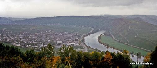 Photo: Sonnenberg. Uitzicht over Leiwen en de Moezel.