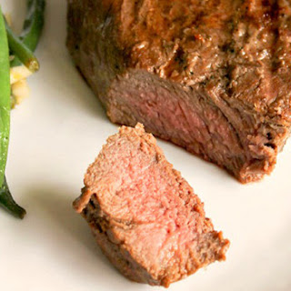 Whiskey-Marinated Grilled Sirloins with Brown Butter Lemon Green Beans