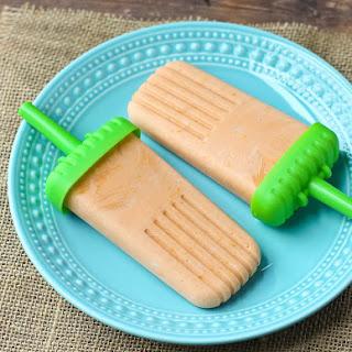 Healthy Orange Creamsicle Popsicle
