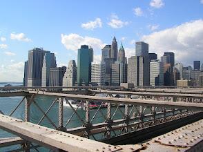 Photo: Lower Manhattan seen from the Brooklyn Bridge