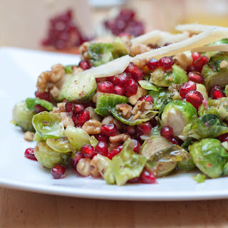 Roasted Brussels Sprouts and Pomegranate Salad