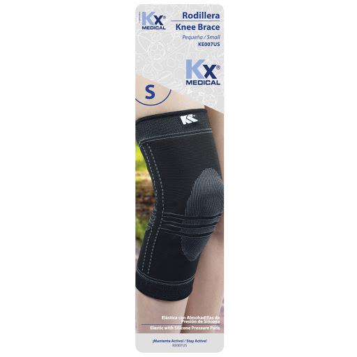 rodillera elastica almohadillas silicon kx sin latex talla p Producto elaborado con poliéster y silicona. ¡Conoce la amplia línea de productos en soporte terapéutico que KX Medical trae para ti!