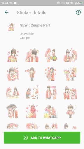 couple romantic stickers for whatsapp screenshot 3