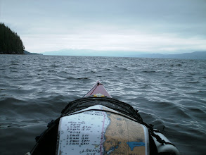 Photo: Looking south down Fitz Hugh Sound with Calvert Island on the right in the distance.