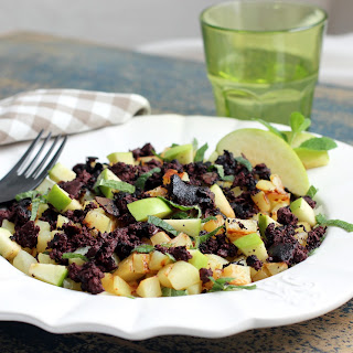 Warm Potato and Apple Salad with Boudin Noir