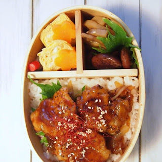 Mustard Pork Teriyaki Bowl for Bento