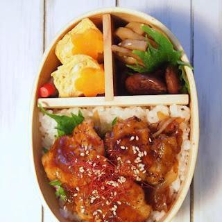 Mustard Pork Teriyaki Bowl for Bento