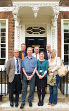 Photo: NRW delegates and Natural Trust outside NT offices in Queen Anne's Gate, London. from left to right: Franz Noll, Andreas Zawierucha, Rory Cullen (NT), Mr Koenig, Lizzie Long (NT), Eberhard Juengst, Marie Theres Luetje