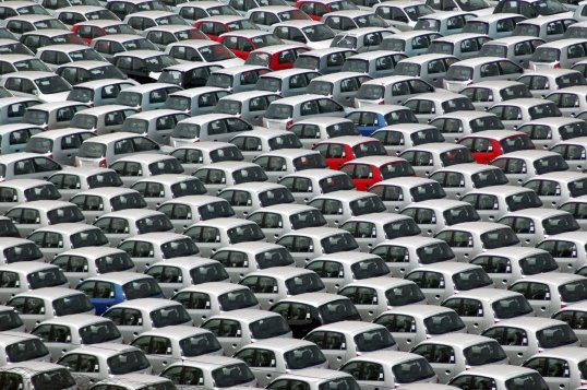Hyundai cars are seen at a port ready for shipment in the south Indian city of Chennai, in this file picture. Picture: REUTERS