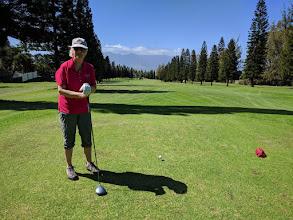 Photo: Linda at Pukalani Country Club , Maui