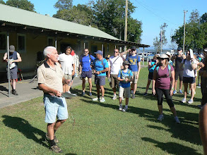 Photo: Bob & novice briefing - Walkabout in a Water Wonderland - Wallarah 6 hour Metrogaine, 10 Feb 2013