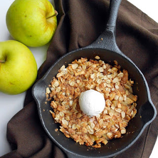 Spiced Mini Skillet Apple Crisp