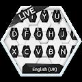 Black and White Hexagon Keyboard Theme APK