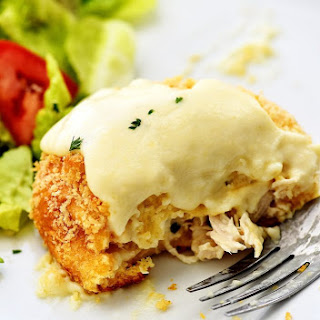 Chicken Pillows with Creamy Parmesan Sauce Recipe
