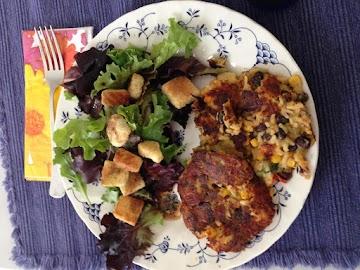 Veggie Rice Burgers Recipe