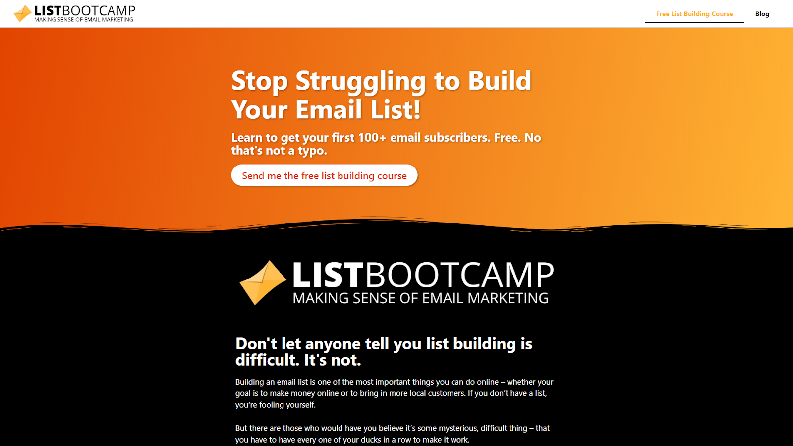 ListBootcamp is one of my lead magnets.