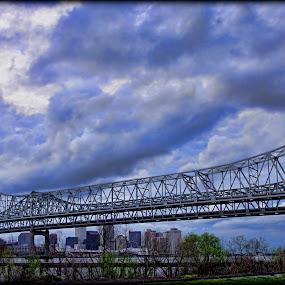 New Orleans Crescent City Connection by Larry Landry - Buildings & Architecture Bridges & Suspended Structures ( #crescent city connection #new orleans #bridges #mississippi river, # big city bridges )