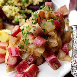 Rhubarb & Vidalia-Smothered Chicken