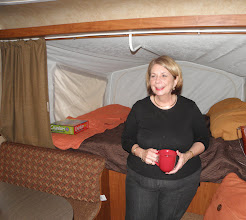 Photo: Suzanne is giving us a tour of the RV