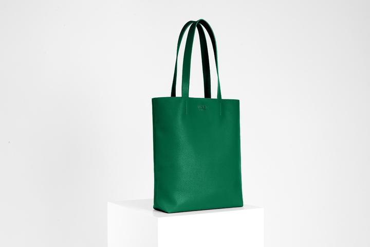 recycled leather handbag