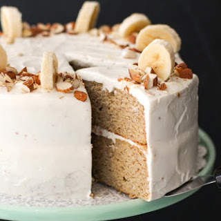 Healthy Banana Cake with Cream Cheese Frosting