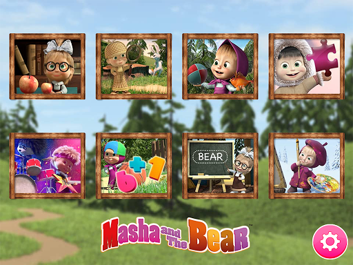 Masha and the Bear. Educational Games 2.3 Screenshots 1