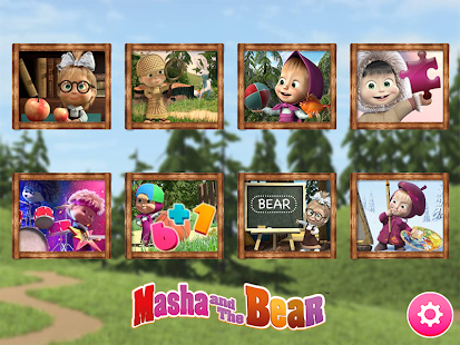 Masha and the Bear. Lernspiele Screenshot