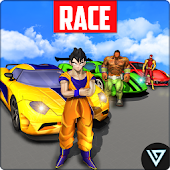 Superhero Car Stunt Race