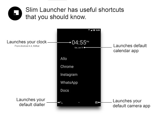 Slim Launcher - Fewer distractions, more life 2.3.1 screenshots 1