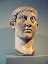 Photo: Portrait head of the Emperor Constantine I. Late Imperial, ca. 325-370 A.D.  Roman.  Marble.  http://www.metmuseum.org/Collections/search-the-collections/130013374