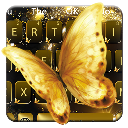 Golden Butterfly Keyboard