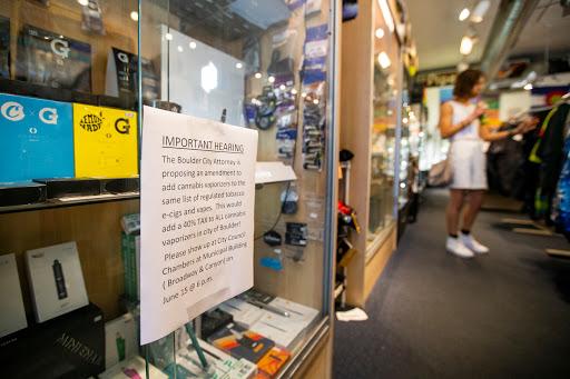 Boulder fine-tuning language that regulates electronic smoking devices