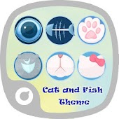 Cat and Fish Launcher Theme