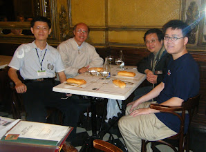 Photo: Taiwan team at dinner