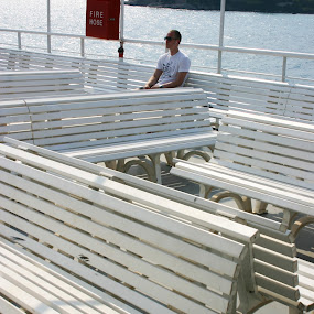 Ferry Crossing by Gordon Coldwell - People Street & Candids