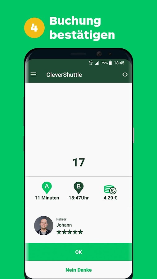 CleverShuttle- screenshot