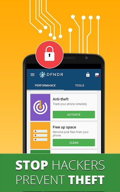 #2. DFNDR: Antivirus & Cleaner (Android)