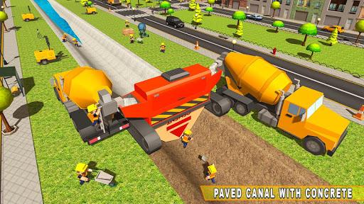 Mega City Canal Construction & Road Builder screenshots 2