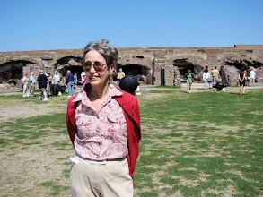 Photo: Elinor inside Fort Sumter