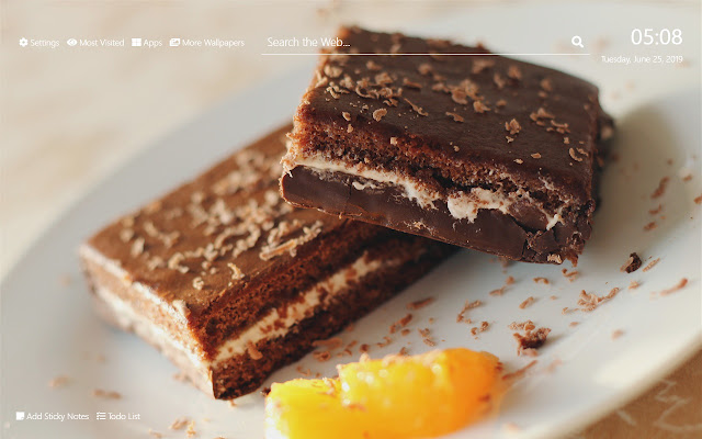 Chocolate Brownie Wallpaper HD New Tab Theme