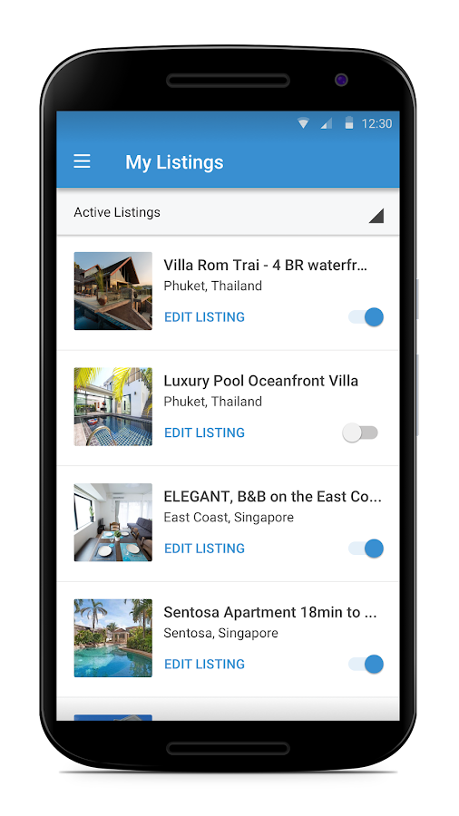 HomeAway- screenshot