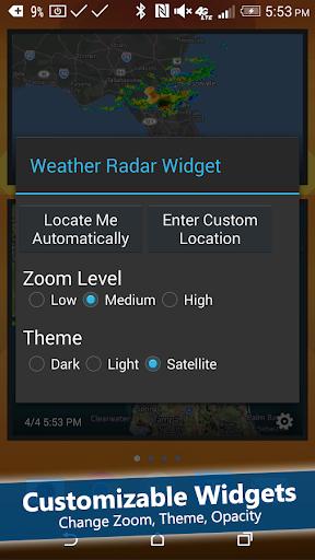 Weather Radar Widget Screenshot