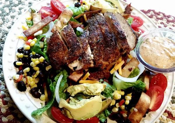 Blackened Chicken Southwestern Salad Just A Pinch Recipes