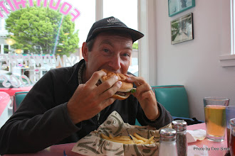 Photo: (Year 2) Day 337 -  Rog With His Burger in Nifty Fiftys Diner