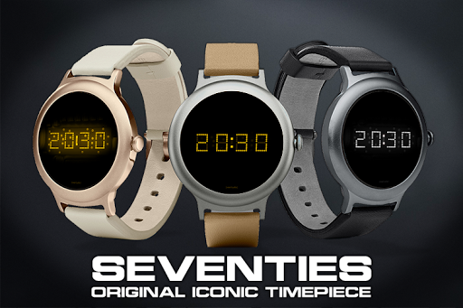 Download LED watch face | Vintage | Seventies Amber MOD APK 5