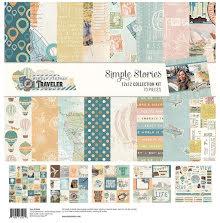 Simple Stories Collection Kit 12X12 - Simple Vintage Traveler UTGÅENDE