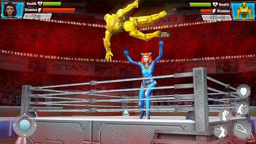 Robot Wrestling 2019: Multiplayer Real Ring Fights apkpoly screenshots 1