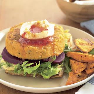 Vegetarian Chickpea Burgers.